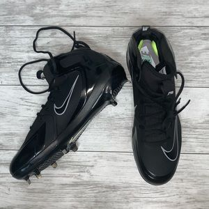 Nike Black Max Air Cleats Size 12.5 NEW
